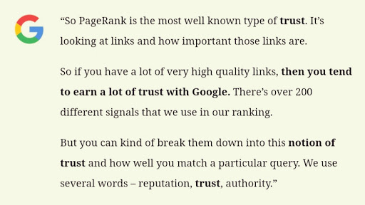 Google patent quote